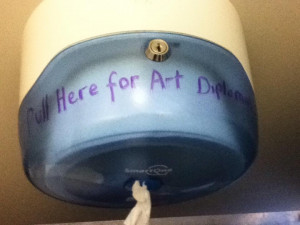 Funny Art Diploma Picture Toilet Paper Image