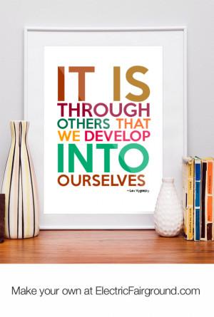 Lev Vygotsky Framed Quote
