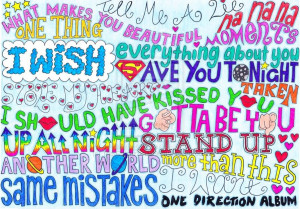 one direction song quotes drawings
