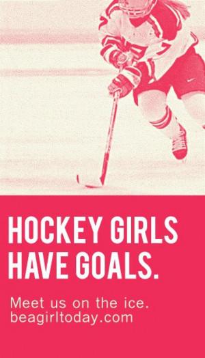 Girl Hockey Quotes