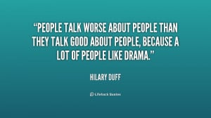Quotes About People Talk