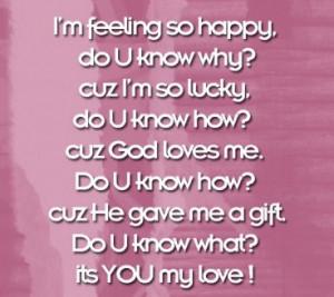Baby Quote – I am Feeling so Happy