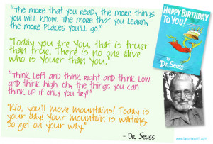 Oh the Places You'll Go! Inspiration and Quotes from Dr. Seuss