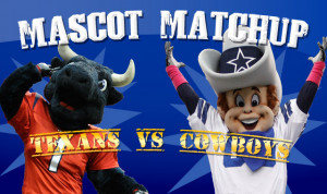 Mascot Matchup: Texans vs. Cowboys