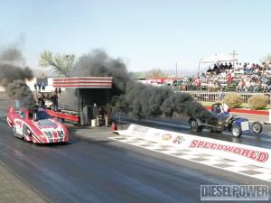 Desert Heat Funny Car Drag Race