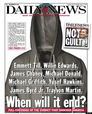 ... victim of racial hate crime, following controversial Zimmerman verdict