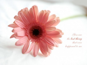 You are the best thing that ever happened to me love quote