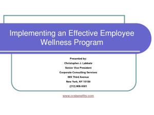 employee health wellness programs