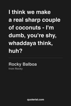 Rocky to Adrian in Rocky