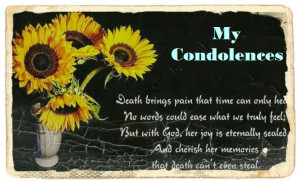 Sympathy Quotes For Loss Of A Child My condolences for mother loss
