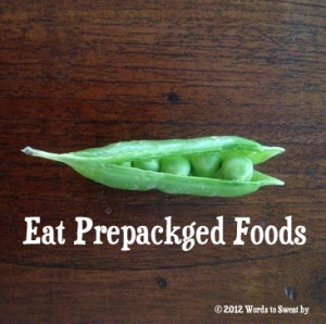 Not ALL prepackaged foods are unhealthy.