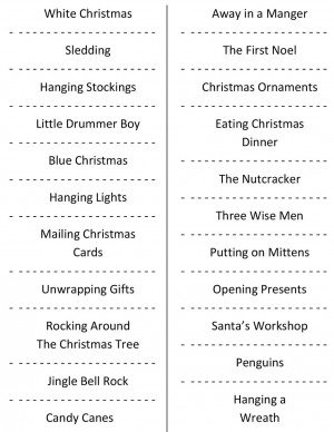 Christmas Charades {free party game printable}