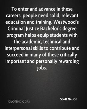 education and training. Westwood's Criminal Justice Bachelor's degree ...