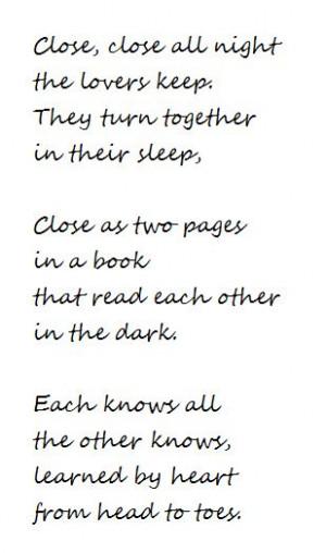 Elizabeth Bishop ~ Close, close all night