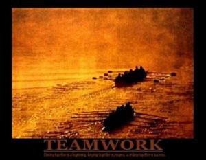 Crew Rowing Teamwork Poster 20x16