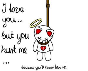 the sad teddy bear by shy-girl18