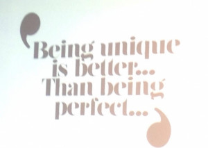 ... is something better than being perfect this # quote claims that being