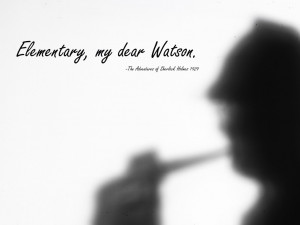 Sherlock Holmes Book Quote Backgrounds