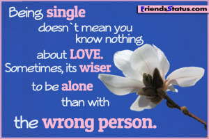 love single quotes status update