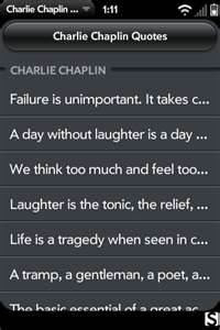 Charlie chaplin quotes...use ones about laughter at chaplin table