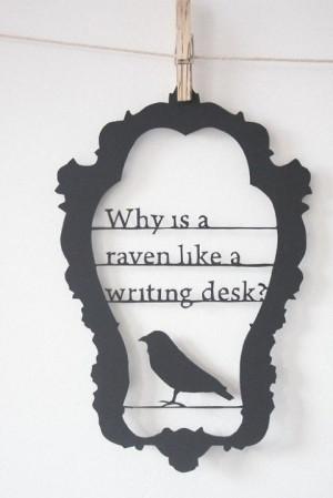 WonderlandWall Art, Writing Desks, Edgar Allan Poe, Mad Hatters, Quote ...
