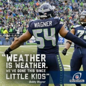 Seahawk fans, Quotes from the game.