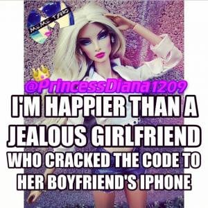 happier than a jealous girlfriend who cracked the code to her ...
