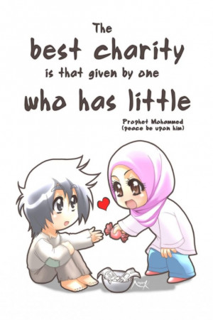 The best charity islamic quotes, hadiths, duas