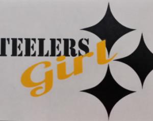 Steelers Girl Vinyl Decal Sticker