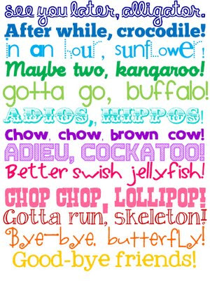 Great ways to say goodbye to children!