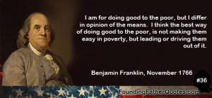 am for doing good to the poor but i differ in opinion of the means i ...