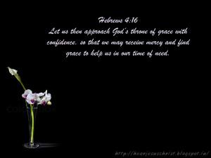 Bible Verse Wallpaper - Hebrews 4:16
