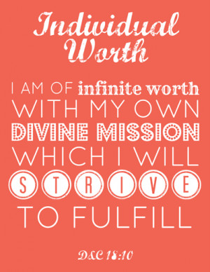 LDS Young Women Individual Worth printable