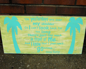 ... Buffet Changes In Latitude Changes In Attitude Palm Tree & Beach Theme