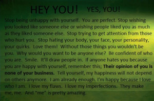 Hey You! Yes, You! – Quotes Love Yourself