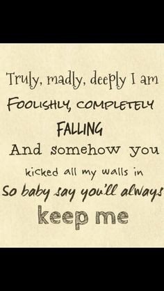 truly madly deeply more 1d lyrics deeply on direction songs lyrics ...