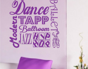 The Word Dance In Glitter Dance wall quotes words