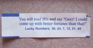 16 Hilarious Fortune Cookie Messages