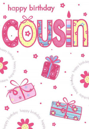 happy birthday cousin ref 5174 approx 13cm x 18cm 5 x 7 embossed cut ...