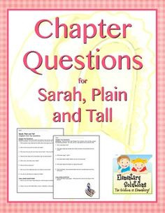 ... use with reading Sarah, Plain and Tall by Patricia MacLachlan. $ More