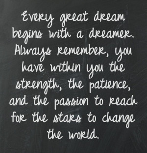 How to realize your dream.