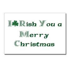 Irish Christmas Postcards (Package of 8) for