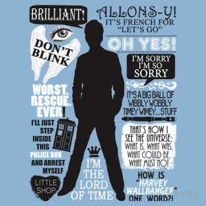 Fantality › Portfolio › Doctor Who - 10th Doctor Quotes