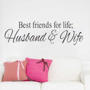 Husband&Wife Best Friends quotes wall decal decor Bedroom Wall Sticker ...