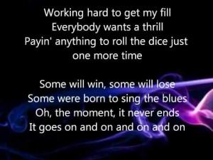 Dont Stop Believing Journey Lyrics - Videos Relacionados