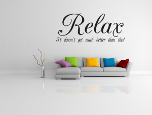 Relax Quote Vinyl Wall Art...