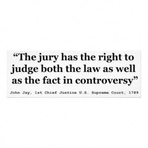 Trial Juries Quote by Justice John Jay 1789 Photograph