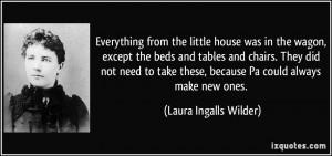 More Laura Ingalls Wilder Quotes