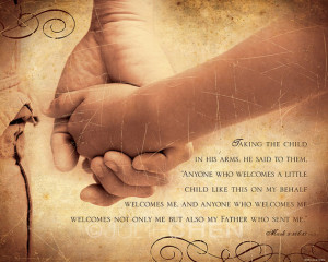 ... Quote - Adoption Keepsake - Scripture Art - Inspirational Art - Bible