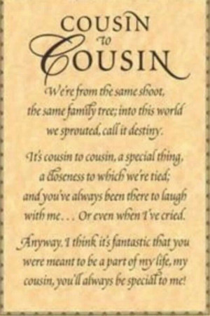 Cousins - for the girls.